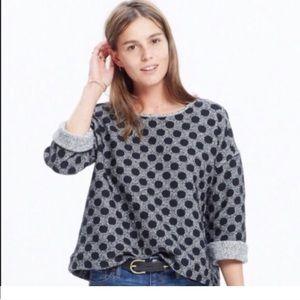 Madewell polka dot reversible sweater